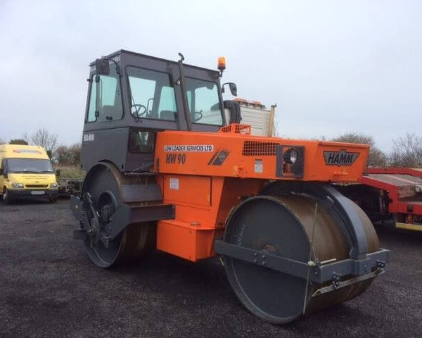 Hamm HW90 Deadweight Roller with Cutting disc & Plough -www.lowloader.ie
